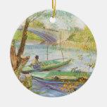 Pescando en primavera, Van Gogh, impresionismo del Ornamento De Reyes Magos