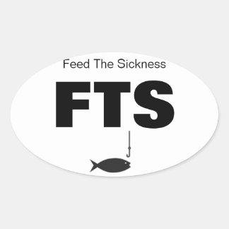 PESCANDO la alimentación la enfermedad Pegatina Ovalada