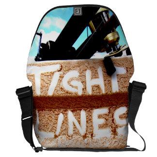 Pescando las líneas apretadas carrete de la pesca bolsa de mensajeria