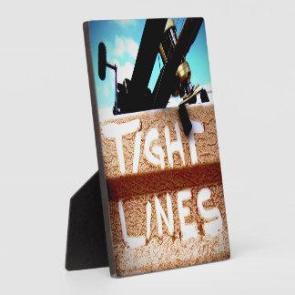 Pescando las líneas apretadas carrete de la pesca placa de madera