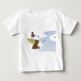 Pescando los osos - camiseta de color salmón de