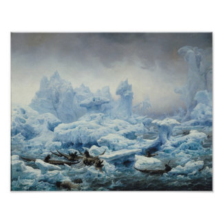 Pescando para la morsa en el Océano ártico, 1841 Posters