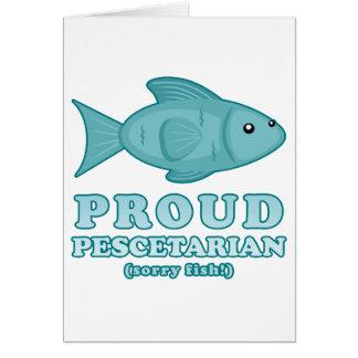 Pescetarian orgulloso tarjeton
