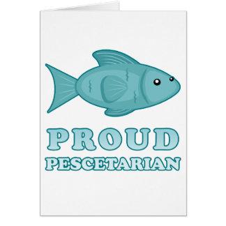 Pescetarian orgulloso tarjeta de felicitación