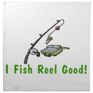 Pesco el carrete bueno servilletas imprimidas