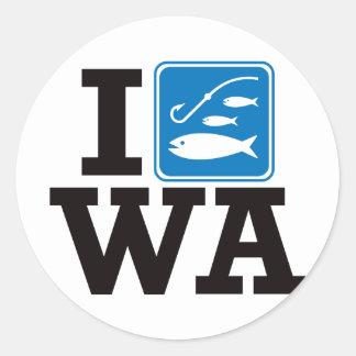 Pesco Washington - WA Pegatina Redonda