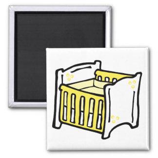 pesebre amarillo iman para frigorífico