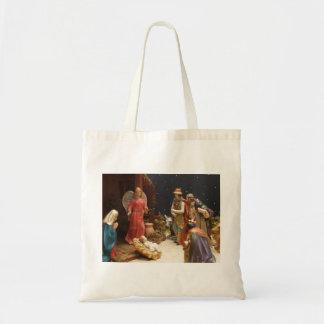 Pesebre de la natividad bolsa de mano