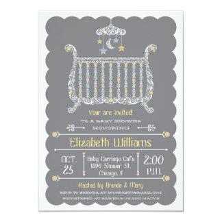 Pesebre elegante - invitación de la fiesta de invitación 11,4 x 15,8 cm