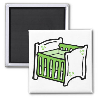 pesebre verde imán de frigorifico
