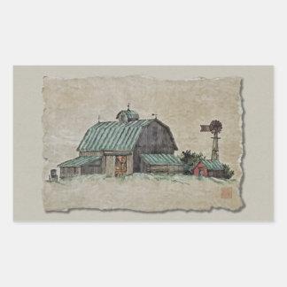 Pesebre y molino de viento del maíz del granero rectangular altavoz