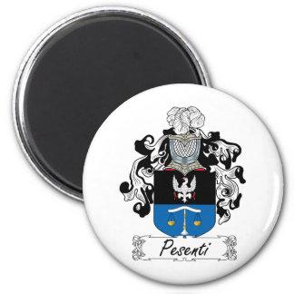 Pesenti Family Crest 2 Inch Round Magnet