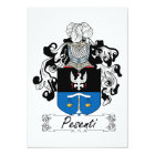 Pesenti Family Crest Card