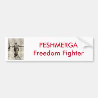 PESHMERGA Freedom Fighter Bumper Sticker