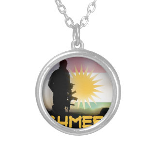 Peshmerga - FREEDOM FIGHTERS OF KURDISTAN Silver Plated Necklace