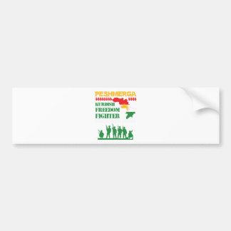 Peshmerga Kurdish Freedom Fighters Bumper Sticker