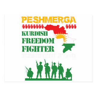 Peshmerga Kurdish Freedom Fighters Postcard