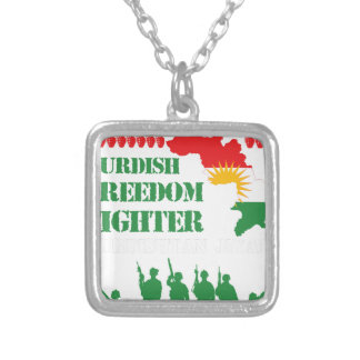 Peshmerga Kurdish Freedom Fighters Silver Plated Necklace