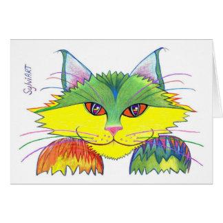 """""""Pesky Cat"""", copyright ©2003, SylviART Greeting Card"""