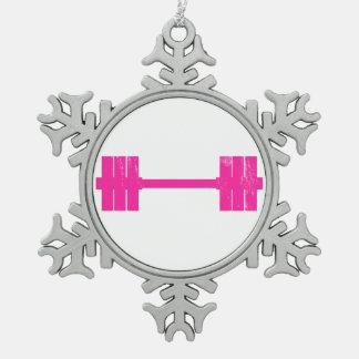 Peso de las rosas fuertes adorno de peltre en forma de copo de nieve