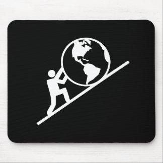 Peso del pictograma Mousepad del mundo