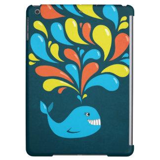 Peso ligero feliz colorido oscuro de la ballena
