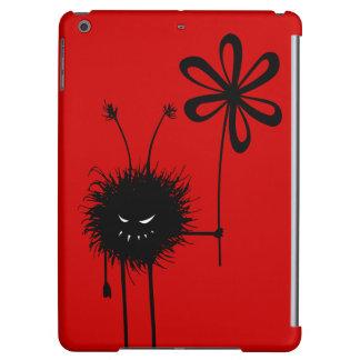 Peso ligero malvado rojo del insecto de la flor