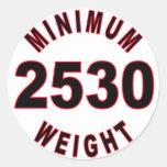 Peso mínimo 2530 redondo etiquetas redondas