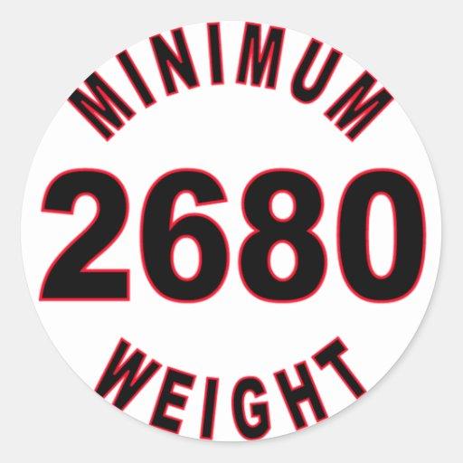 Peso mínimo 2680 redondo pegatina redonda