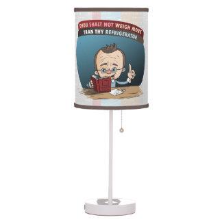 Peso perdidoso de la dieta divertida lámpara de mesilla de noche