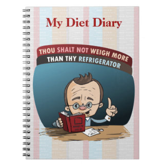 Peso perdidoso de la dieta divertida libreta