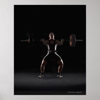 Peso que mueve de un tirón del Weightlifter Poster