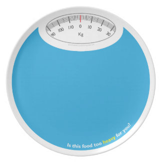Peso y salud conscientes plato para fiesta