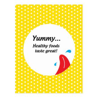 Peso y salud conscientes tarjetas postales