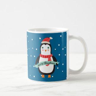 Pesonalized Cute little Christmas Penguin Coffee Mug