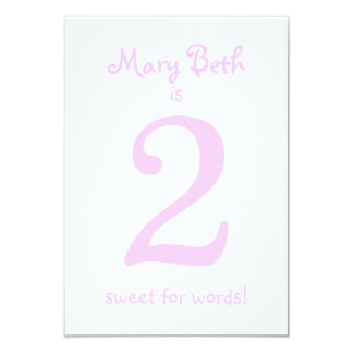 Pesonalized Funny Second Birthday Girl Party Card