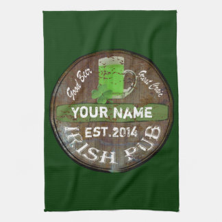 Pesonalized Irish pub sign Hand Towel