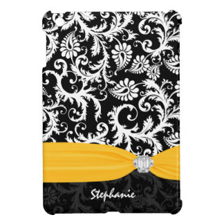 Pesonalized Rhinestone Damask-choose color Case For The iPad Mini