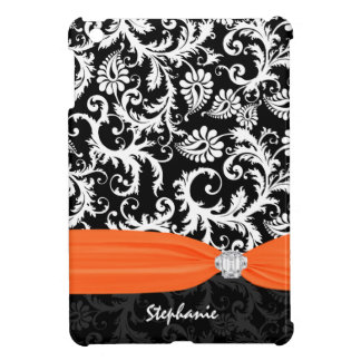 Pesonalized Rhinestone Damask-choose color iPad Mini Covers