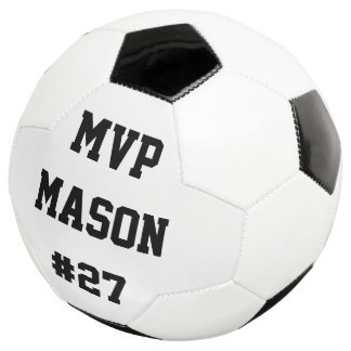 Pesonalized Soccer Ball Player Number Name MVP