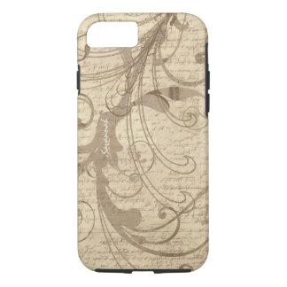 Pesonalized Vintage Writing Swirl iPhone iPhone 7 Case