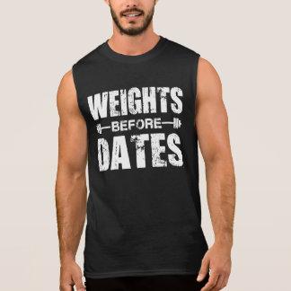 Pesos antes de las fechas - camisa para los