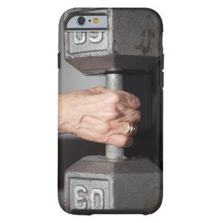 Pesos de elevación de la mujer mayor funda para iPhone 6 tough