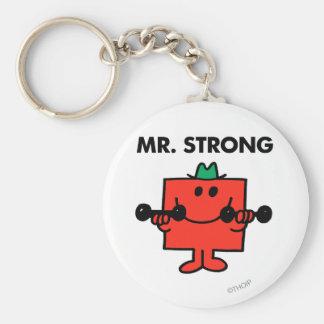 Pesos de elevación de Sr. Strong el | Llavero Redondo Tipo Pin
