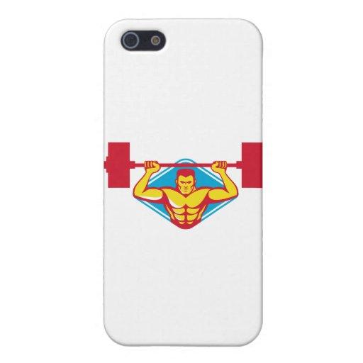 pesos de elevación del culturista del weightlifter iPhone 5 protectores