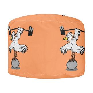 Pesos de elevación del gallo puf redondo