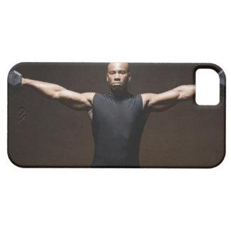 Pesos de elevación del hombre, retrato funda para iPhone SE/5/5s
