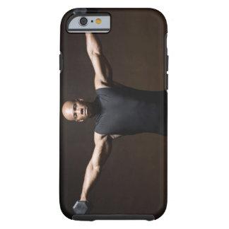 Pesos de elevación del hombre, retrato funda resistente iPhone 6
