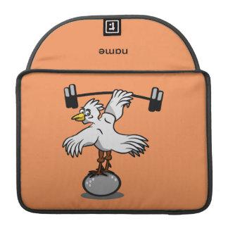 Pesos de elevación del pollo fundas para macbooks