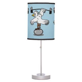 Pesos de elevación del pollo lámpara de escritorio